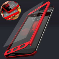 360° Full Cover Case + Tempered Glass For Xiaomi Redmi 4X 5 Plus 6A Note 5 6 Fy