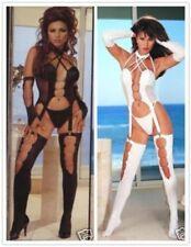 Corpiños y corsés de mujer de color principal negro de piel sintética