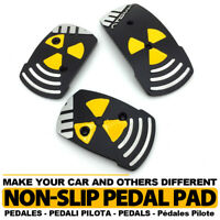 Black Universal MT transmission Racing Sports Truck Car Non-Slip Pedals Pad Set
