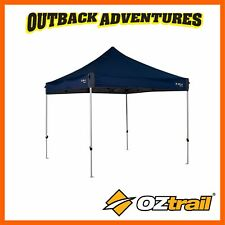 OZTRAIL GAZEBO DELUXE 3.0 - 3 x 3m BLUE - PORTABLE  CAMPING SHELTER NEW MODEL