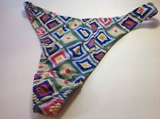 Women Panties,Thongs Size L/7 Large Multicolor Silky Shiny Checkered Soft
