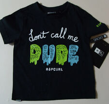 RIPCURL Size 0 Baby T Shirt Top New Born Surf Dude NEW Rip Curl boys black