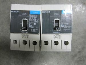 2 SIEMENS NGB3B125 3-POLE CIRCUIT BREAKERS