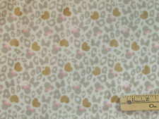 Minnie Mouse Ears Leopard Print Gray & Gold Fabric by the 1/2 Yard  #85270202