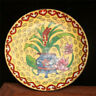 """5.12"""" Collection Chinese pure copper Cloisonne drawing Flower pattern plate"""
