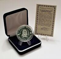 1986 Original Halley's Comet Commemorative Silver Medal - Edmond Halley