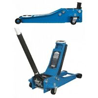 TROLLEY JACK 2 TONNE LOW ENTRY TWIN PISTON ROCKET LIFT - BLUE - HEAVY DUTY