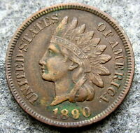 UNITED STATES 1890 CENT INDIAN HEAD, BETTER GRADE
