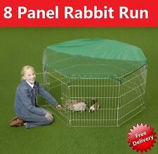Large 8 Panel Dog Puppy Rabbit Cage Run PlayPen Guinea Duck Chicken Enclosure