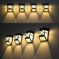 Energía solar de pared lampara luz LED Paisaje Exterior Jardín Cerca Lámpara