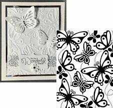 Butterflies embossing folder - Darice Embossing Folders 1219-207 Insects