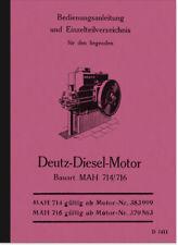 Deutz Dieselmotor mAh 714 716 Manuale Ricambio elenco MANUALE MOTORE