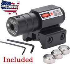Tactical Red Laser Beam Dot Sight Scope For Gun Rail Pistol Weaver Red