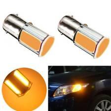 1pc Car Amber/Yellow 8000K 1156 4 COB LED Turn Signal Rear Light Bulb Lamp Good