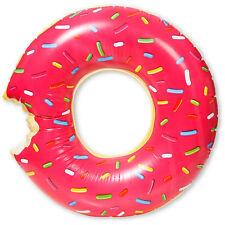 Giant Inflatable Donut Swim Ring Jumbo 126cm Pool Toy Float Raft Aquafun