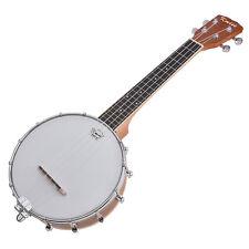 Kmise 4 String Banjolele Banjo Ukulele Uke Concert 23 Inch Ukelele Sapele Wood