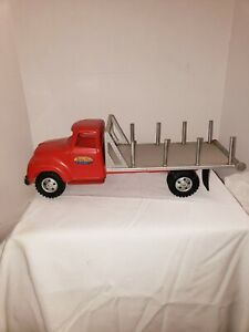 VINTAGE 100% ORIGINAL PRESSED STEEL TONKA TOY LUMBER TRUCK RED EXCELLENT
