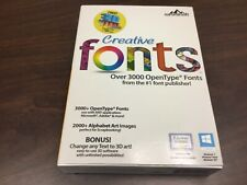 SUMMITSOFT CREATIVE FONTS 3000 OPEN TYPE FONTS WINDOWS NEW & SEALED