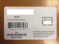 Sprint Micro Sim UICC SIMGLW206R 4G LTE