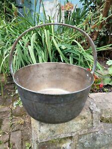 Vintage ~ BRASS JAM PAN -10 inches  diameter