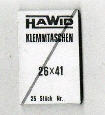 25 Protectores Hawid de 26x41 negros. (CM-315)