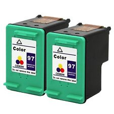 2PKs HP 97 Color Ink Cartridges C9363WN Photosmart 2610 8450 8030 325v 370 335