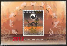 Curacao  2012 year of the dragon  m/s  postfris/mnh us