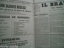 MUSICA_TEATRO_LETTERATURA_NAPOLI_PARIGI_VERONA_CARNEVALE_ARTE_RARA RACCOLTA_1839