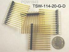 ( 19 PC. ) SAMTEC TSW-114-20-G-D 14 X 2 ROW HEADER