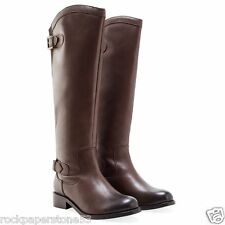 Redfoot Kensington Brown Ladies Leather Elasticated Riding Zip Boots UK 6
