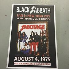 BLACK SABBATH - CONCERT POSTER MSG NEW YORK U.S.A. 4TH AUGUST 1975 (A3 SIZE)
