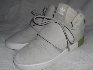 Adidas Tubular Invader Strap Trainer Grey and Sesame