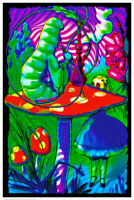 """Psychedelic Alice Non-Flocked Blacklight Poster 24"""" X 36"""""""