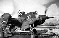 WW2 Picture Photo 1943 Lt Herb Hasenfus in P-38 Lightning during engine run 1684