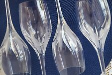 Mikasa Crystal Flame D'Amore 10 Ounce Water Goblets Set of 4 Stemware Glasses