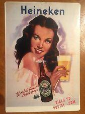 Tin Sign Vintage Heineken Girls Go Postal