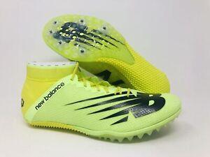 New Balance Men's SD 100 V3 Spike Running Shoe, Sulphur Yellow/Black, 9 D(M) US