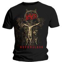 Medium Black Slayer Cruciform Skeletal Men's T-shirt. - Mens Tshirt Repentless