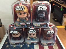 Hasbro Star Wars Mighty Muggs LOT Kylo Rey Luke Vader Chewbacca New!