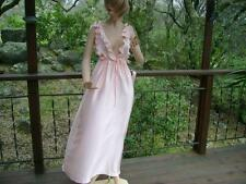 Vintage Marsha Bergen For Colonial Shiny Satin Nightgown Sz:L Usa Made