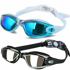 Cooloo Swim Goggles Pack Of 2 - Allpaipai Professional Anti Fog No Leaking Uv