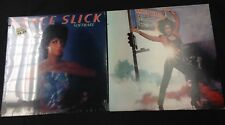 GRACE SLICK 2 LP RECORD LOT WELCOME TO THE WRECKING BALL & SOFTWARE SEALED / EX