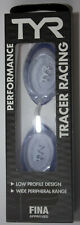 TYR Performance Clear Swim Goggles Tracer Racing FINA Low Profile New in Box