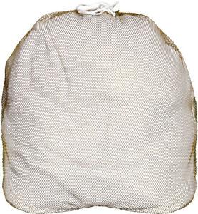 Coyote Brown Lightweight Nylon Mesh Utility Laundry Drawstring Bag