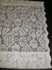 (1) Floral Lace Valance ~ Ivory ~ 20 x 59