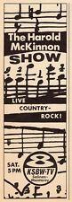 1966 TV AD~THE HAROLD McKINNON SHOW LIVE COUNTRY ROCK !~KSBW SALINAS/MONTEREY,CA