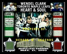 WENDEL CLARK vs McSORLEY FIGHT MAPLE LEAFS 8x10 PHOTO W/MAPLE LEAF GARDENS SEAT