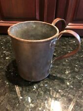 Antique Copper Double Handle Pass Tankard Mug