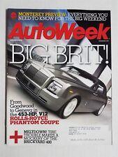Auto Week  Magazine August 4, 2008 Rolls-Royce Phantom - Camaro  Harley-Davidson