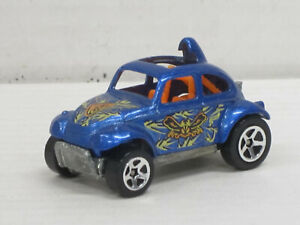 VW Käfer Buggy in blaumetallic + Dekor, ohne OVP, Hot Wheels, ca. 1:64